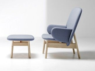 Upholstered fabric armchair with armrests ALA | Armchair - La Cividina