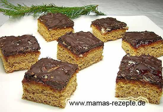 Saftige Lebkuchenwürfel   Mamas Rezepte - mit Bild und Kalorienangaben