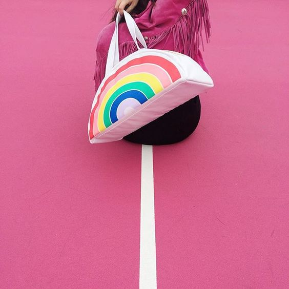 ban.do super chill cooler bag - rainbow
