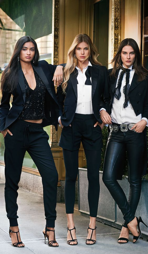 Menswear moment: The Polo Ralph Lauren take on the traditional tuxedo with a distinctively feminine