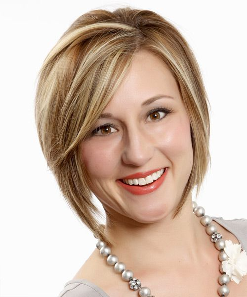 Salon Haircut : Salon hairstyles 5 - highlighted jagged bob hairstyle with side part ...