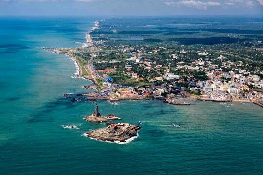 The southernmost point of India ( Kanyakumari)