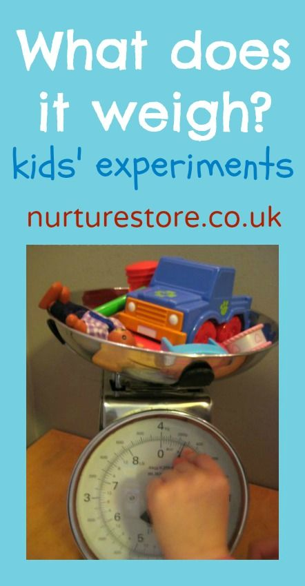 what does it weigh? kids experiments   Kid experiments ...