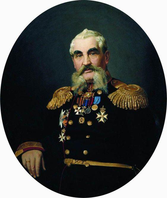 Portrait of the military - Ilya Repin
