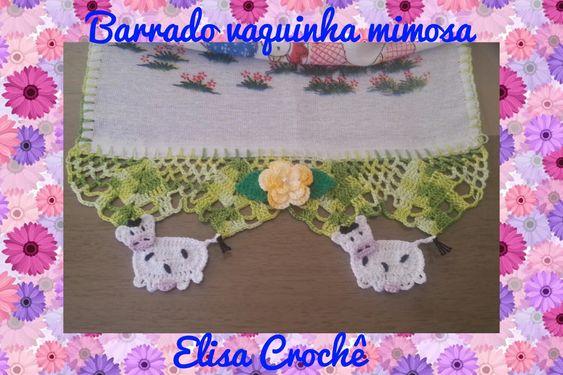 BARRADO VAQUINHA MIMOSA EM CROCHÊ # ELISA CROCHÊ