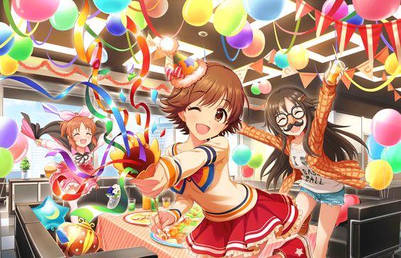 本田未央とお友達でパーティー画像