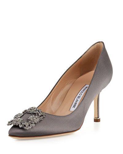 grey manolo blahnik shoes