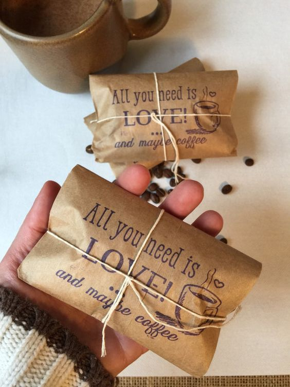 all you need is love coffee wedding favors