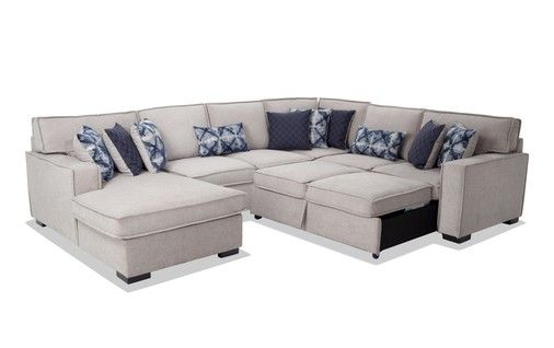 Playscape Gray 4 Piece Right Arm Facing Sectional Sectional Bobs Furniture Living Room Bob S Discount Furniture