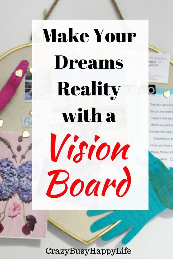 Vision boards help us to visualize the things we want, the goals we want to achieve, and the way we want to feel.