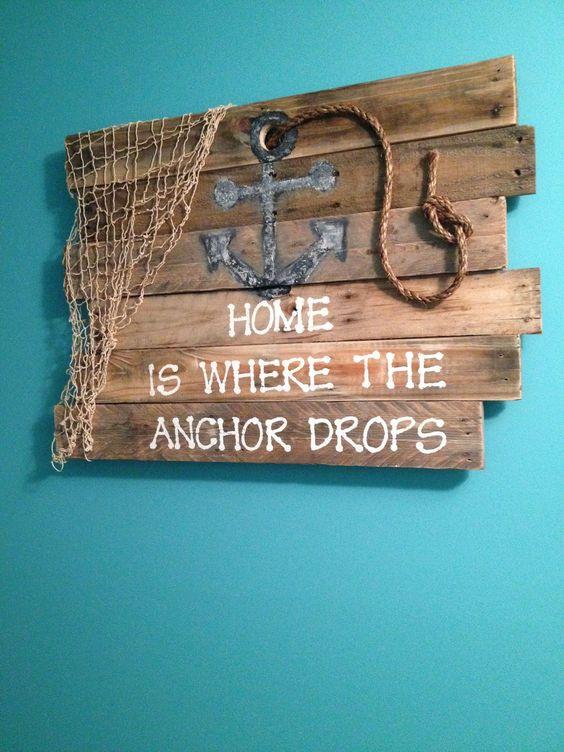 Ocean anchor pallet sign beac decor Designed by Tamica McBride: