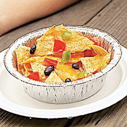 Campfire Nachos - a great recipe for making nachos while camping. Fun!