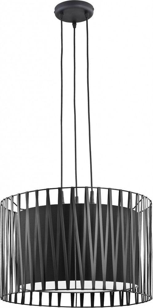 Moderne Pendellampe Schwarz Metall rund Ø50cm MINA Wohnzimmer Esstisch Leuchte