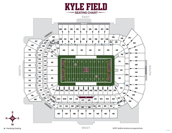 Amazing As Well As Attractive Kyle Field Seating Chart In 2020 Seating Charts A M Football Texas A M Football