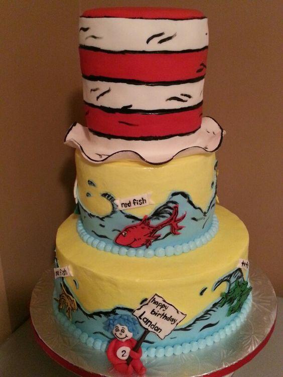 Dr. Seuss  cake made by Kena