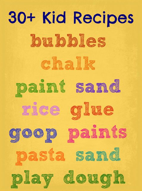 Make-Your-Own Recipes for fun!  Links included for all of your favorite kid concoctions!