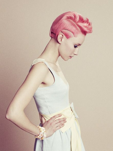 Pink Hairstyle  shaved hairstyle mohican hairstyle