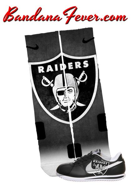 "Bandana Fever - Nike Elite Socks ""Oakland Raiders"" by Bandana ..."