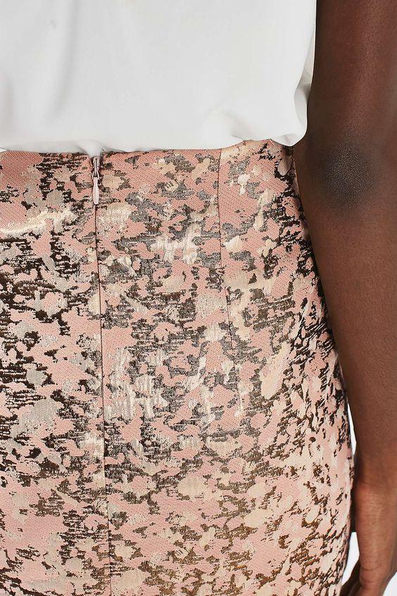 Jupe crayon en jacquard à motif camouflage -  J'adore le jacquard !!!