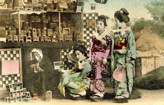 Mushi-ya or Insect Seller 1897