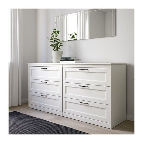 Songesand 6 Drawer Dresser Brown Ikea Bedroom Chest Of Drawers White Bedroom Furniture Ikea Bedroom