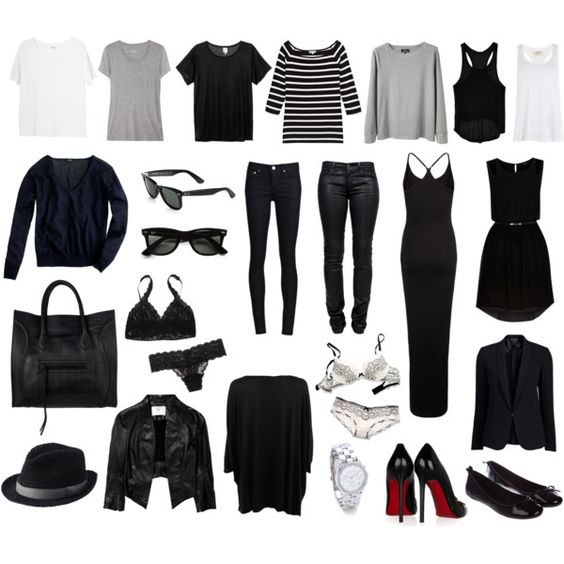 Basics....then add cute accessories and inexpensive fashionable items and your set for every season!!!