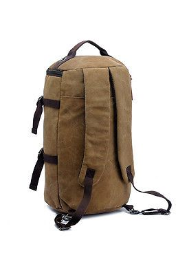 Vintage Canvas Backpack Outdoor Travel Hiking Rucksack Messenger Shoulder Bag