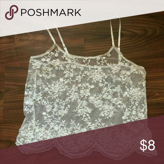 Garage lace cami Used but no stains Garage Tops Tank Tops