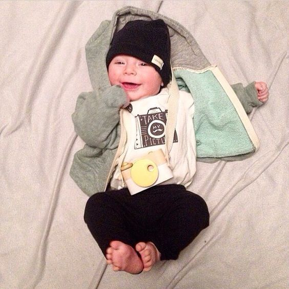 How ridiculously cute is this? Loving the camera theme. Rocking the love beanie and lush hoody.