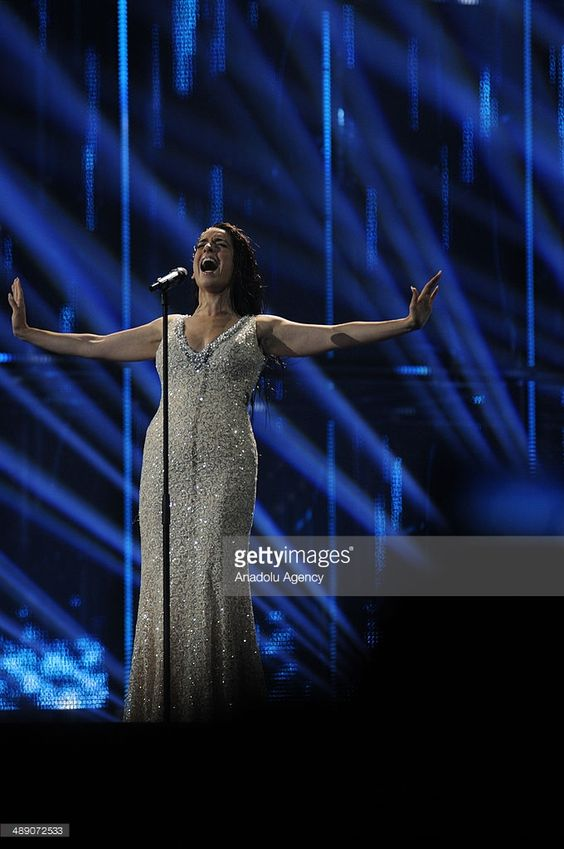 Ruth Lorenzo of Spain performs the song 'Dancing in The Rain' during a rehearsal before the Grand Final of the Eurovision Song Contest 2014 on May 9, 2014 in Copenhagen, Denmark.