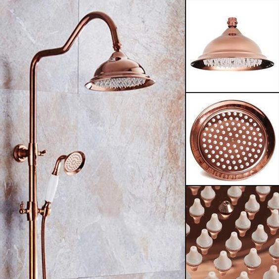203x130mm Luxury European Chrome Golden Color Shower Spray Bathroom Faucet Bath Set Accessories Bath Accessories Set Bathroom Red Bathroom Faucets