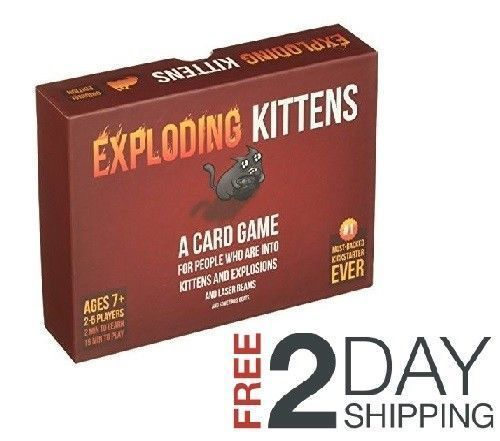 Kittens Exploding Card Game New Edition Original Perfect Friends Christmas Gift Unbranded Kittens Christmas Gifts For Friends Friend Christmas Card Games