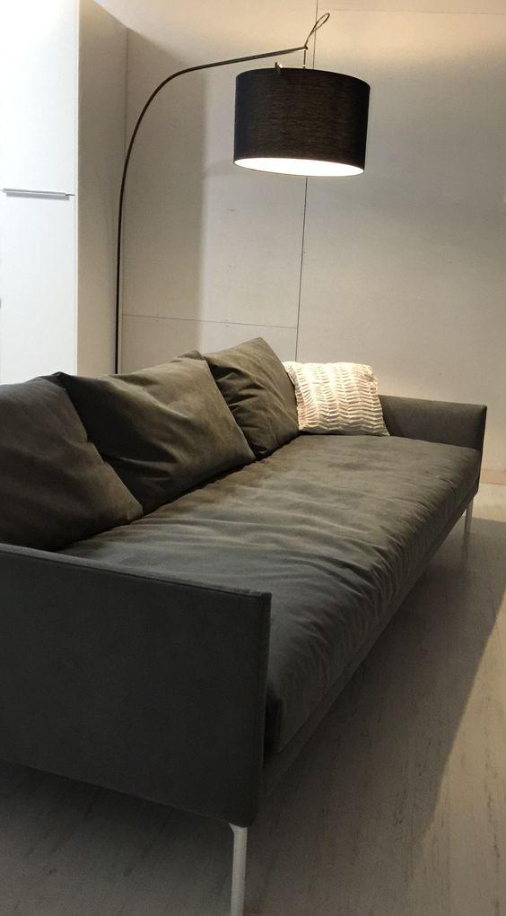 sofa adea band alcantara grey sofa pinterest grey. Black Bedroom Furniture Sets. Home Design Ideas