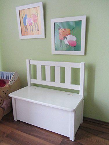 Ni os banco asiento infantil banco de madera banco ba l de for Baul madera infantil