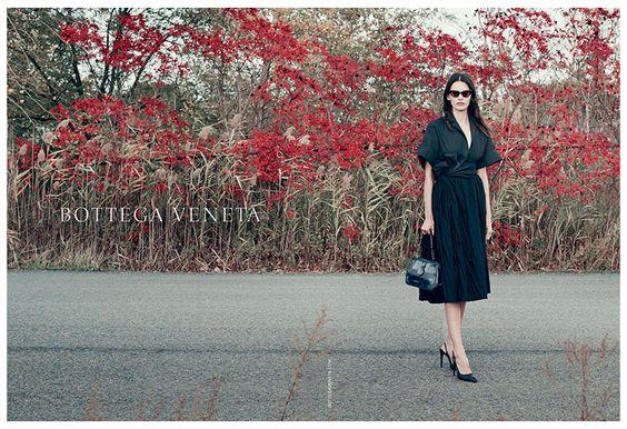 Bottega Veneta Spring/Summer 2014 campaign featuring Amanda Murphy. Photographed by Pieter Hugo.