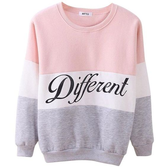 Bluetime Women's Cute Contrast Color Light Crewneck Pullover ...