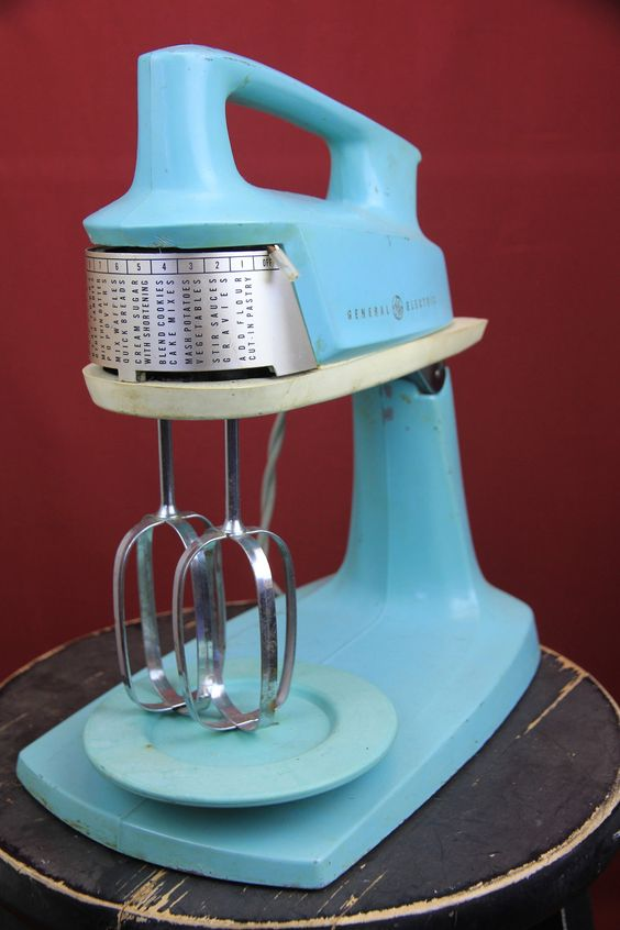 1960s general electric kitchen mixer via etsy for Antique general electric mixer