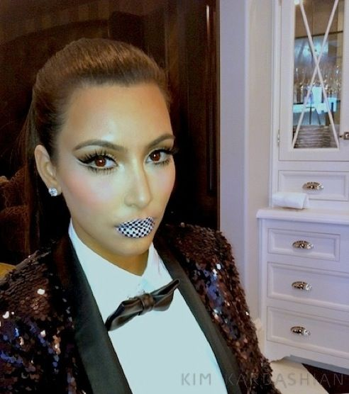 Kim K with her version of violent lips