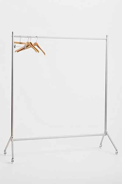 """Rolling Clothing Rack - Urban Outfitters SIZE - Length: 57"""" - Width: 19"""" - Height: 71"""""""