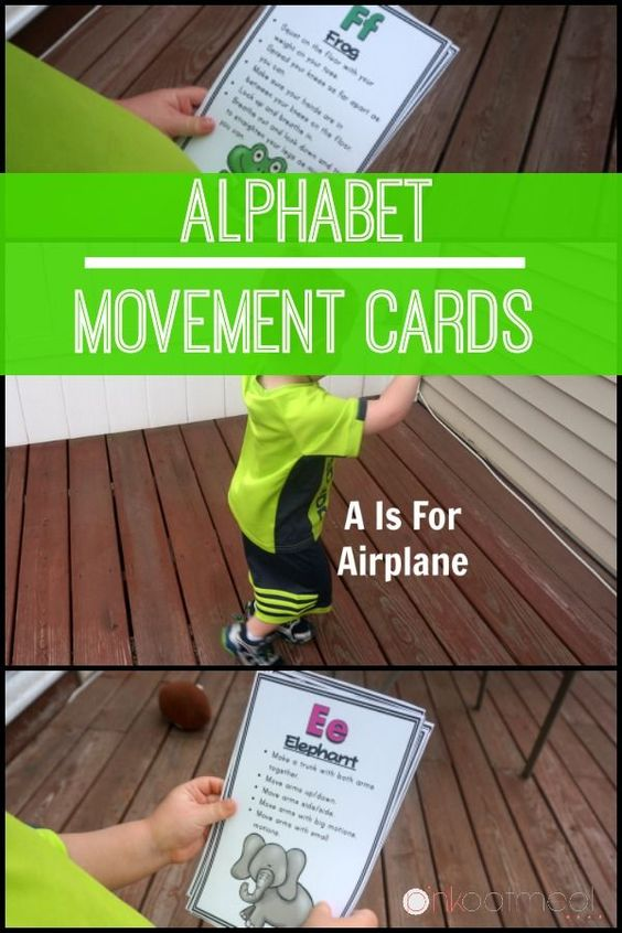 Fun ways to move for each letter of the alphabet.  The perfect preschool activity!