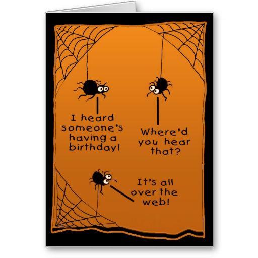 Funny Halloween Birthday Card