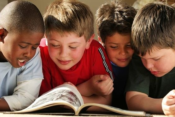 Little Boys Reading a Book | Public Domain Photo (GOV)