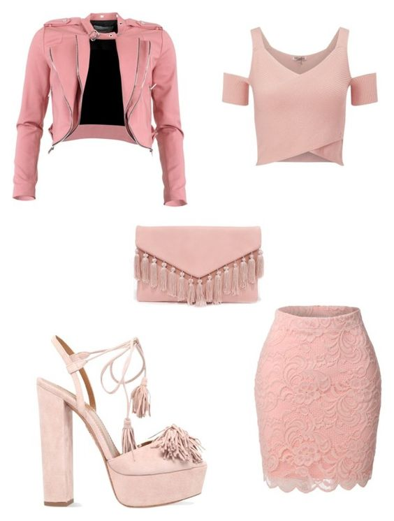 """very pink"" by larita-edelp ❤ liked on Polyvore featuring Aquazzura, FRACOMINA, Lipsy, LE3NO and Lulu*s"