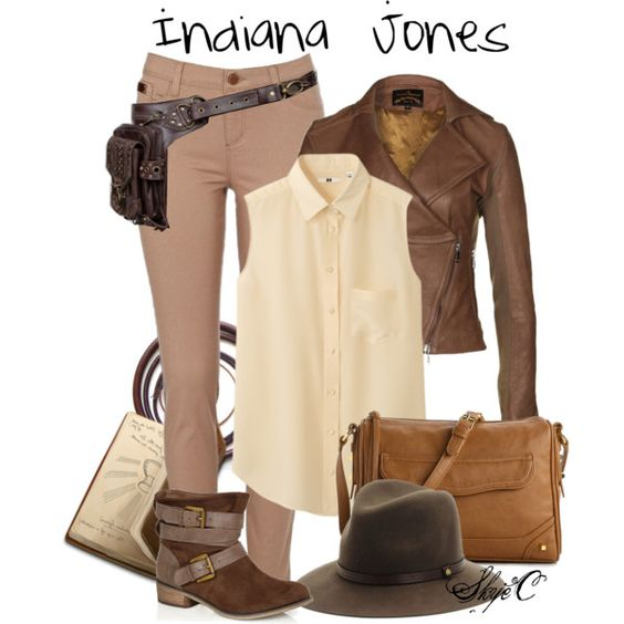 Indiana Jones by rubytyra on Polyvore featuring Uniqlo, Vivienne Westwood Anglomania, River Island, Jessica Simpson and rag & bone