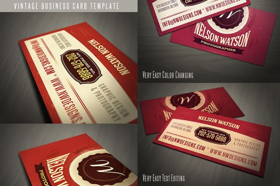 Check out Retro Business Card Template 02 by JumboDesign on Creative Market