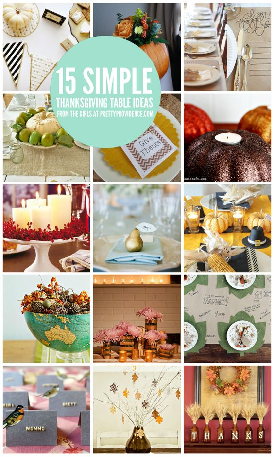 Thanksgiving table ideas centerpiece place setting Simple thanksgiving table decorations
