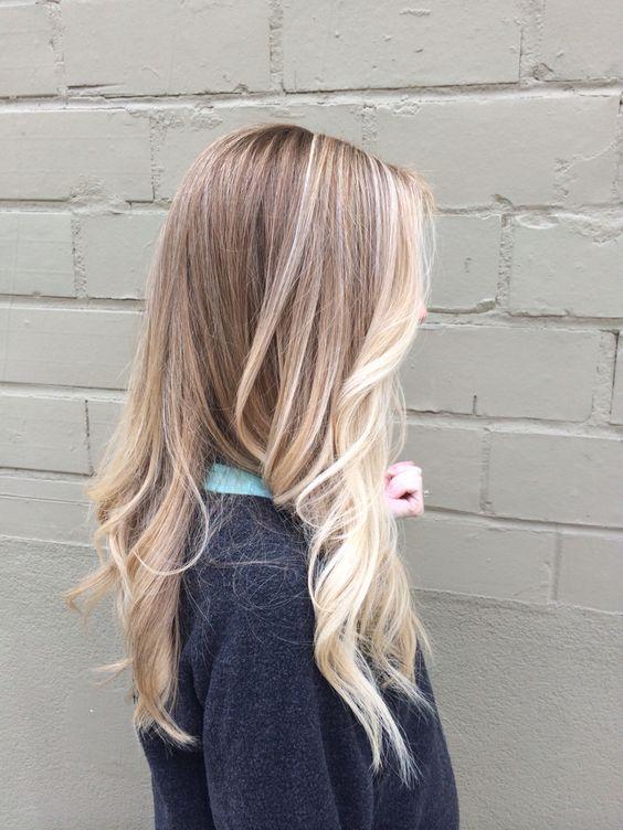 Sassy blonde sombre. Pops of blonde keeping it light. Beige blonde, loose curls.