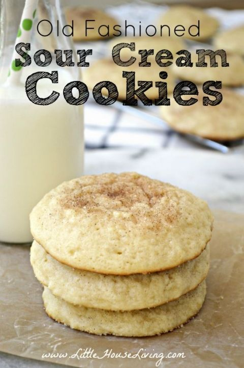Old Fashioned Sour Cream Cookies Recipe Sour Cream Recipes Sour Cream Cookies Sour Cream Sugar Cookies