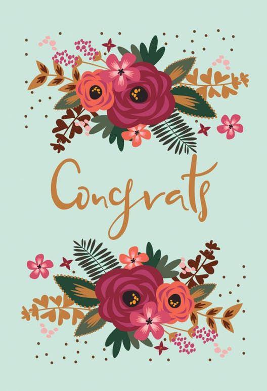 Floral Congrats Congratulations Card Free Greetings Island Wedding Congratulations Card Congratulations Card Baby Congratulations Card
