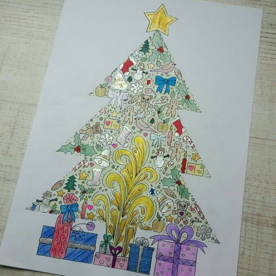Colored version of my Christmas Tree.